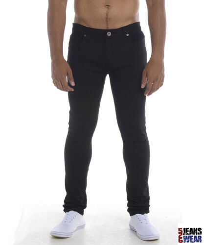 Soulstar DEO Men/'s Boy/'s Stretch Skinny Jeans Black//Navy//Burgundy