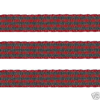 """5 yds 3//8/"""" RED GREEN CHRISTMAS Polyester Checkered Check Gingham Ribbon"""