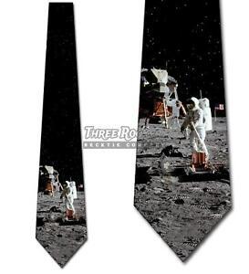 Lunar-Landing-Tie-Moon-Astronaut-Men-039-s-Holiday-Neck-Ties-Brand-New