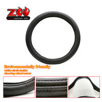 Vehicle Steering Wheel Cover Black Pu Leather With Memory Foam Grip Wrap