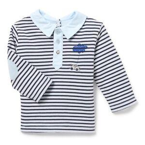 Polo-Raye-Bleu-et-Marine-Un-Amour-de-Marese-Bascule-Marese-Taille-1-Mois