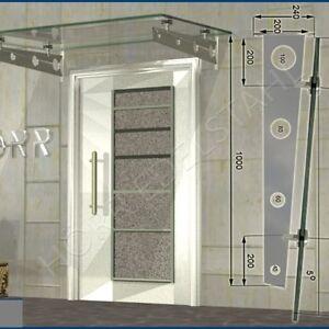 Haustür Eingang vordach schwert edelstahl 1000 mm pultvordach haustür eingang dach