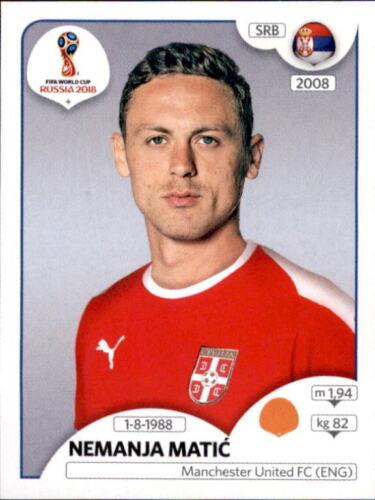 Nemanja Matic Panini WM 2018 World Cup Russia Sticker 424 Serbien