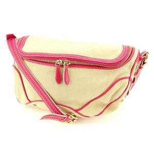 85496e3d625 Image is loading Celine-Shoulder-bag-Pink-Beige-Woman-Authentic-Used-