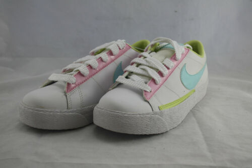 KIDS NIKE BLAZER LOW 318620-141 WHOTE//PINK SIZE AVAL.4 ONLY GS