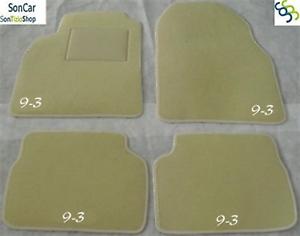 Gummifußmatten für Saab 93 9-3 2 YS3F Limousine Stufenheck 4-türer 2002-2011 sch
