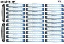 30 pcs White 24V 6 LED Side Front Marker Indicators Lights Lamp Lamps Trailer