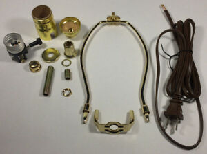 Table lamp wiring kit with 7 brass plated harp 3 way socket 8 ft image is loading table lamp wiring kit with 7 034 brass keyboard keysfo Gallery