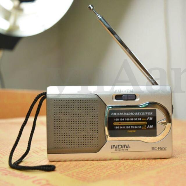 Portable Radio Mini AM/FM Telescopic Antenna Radio Pocket World Receiver #*1