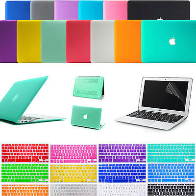Laptop Rubberized Matte Hard Case Cover+Keyboard Skin For MacBook Air Pro 11/13""