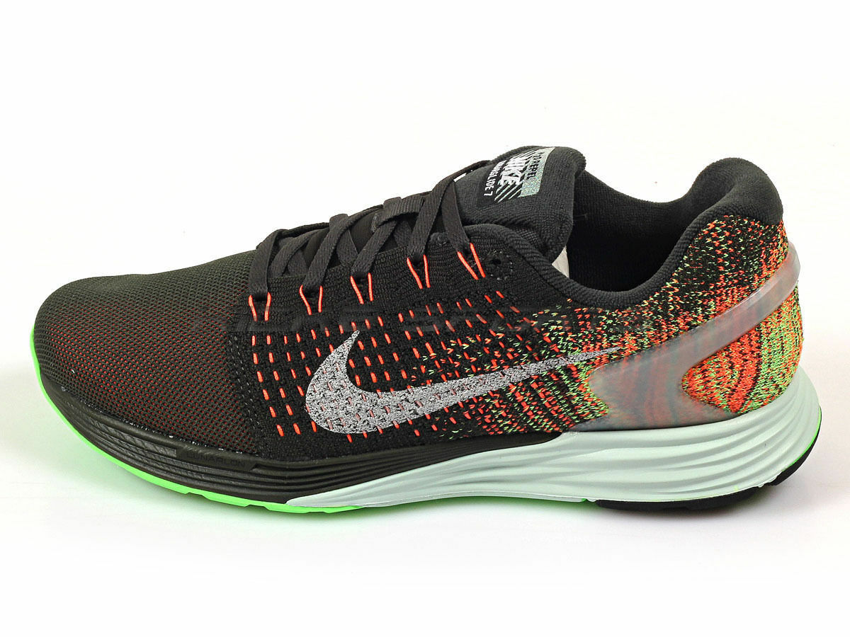 Wmns Nike Lunarglide 7 Flash Running Shoes Black/multi 803567 300 Sz 7