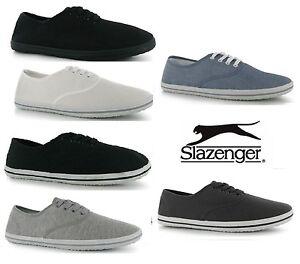 Slazenger-Lace-up-Mens-Canvas-Pumps-Plimsolls-Shoes-Trainers-Size-6-12