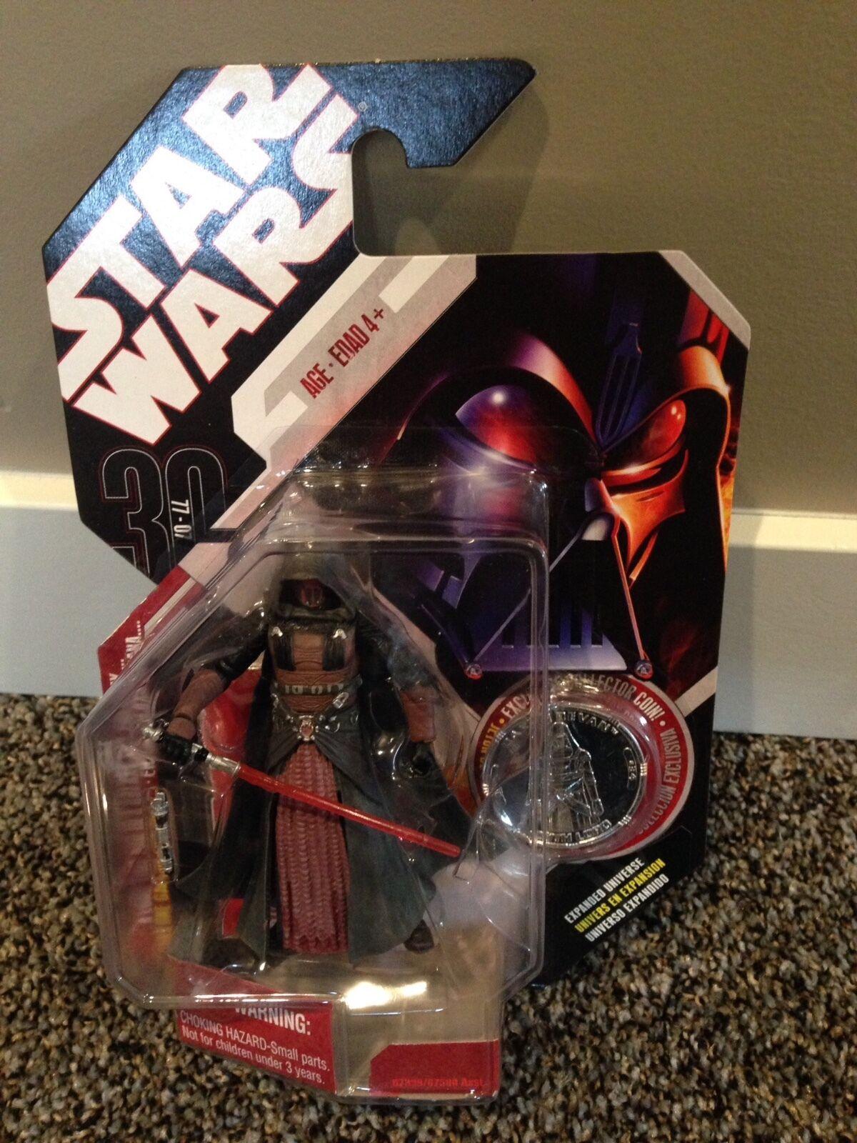 Star Wars 30th anniversary Darth Revan Sealed on Card MOSC Brand New