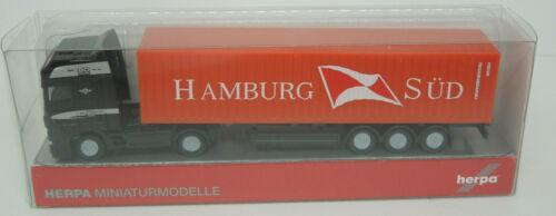 DAF XF Spur N 1:160 Container Hamburg Süd Lo Herpa
