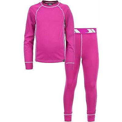 Trespass Mika Kids Base Layer Set Childrens Thermal Top & Bottoms