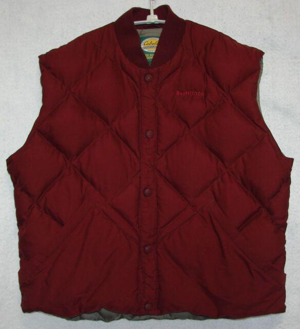 Cabela's Outdoor Gear Goose Down Burgundy Vest Size XL Chest 46-49