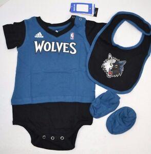 9a55940c4 NBA MINNESOTA TIMBERWOLVES Adidas Lil Jersey Creeper Bib Set 24 MOS ...