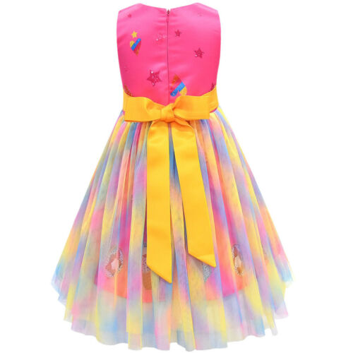 2020 Kids Girls Tutu Princess Dress jojo siwa Children Clothing Lace Party Dress