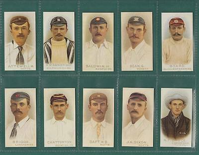 CRICKET  -  WILLS  CRICKETERS  1896  -  SET  OF  50  CARDS  -  REPRINTS