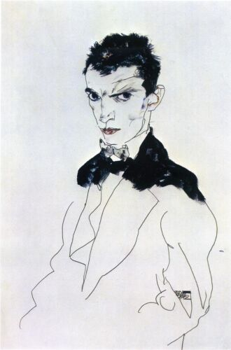 Fine Art Print Egon Schiele Reproductions Self Portrait