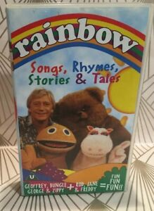 Rainbow-Songs-Rhymes-Stories-amp-Tales-VHS-Video-Tape-Vintage-Classic-TBLO