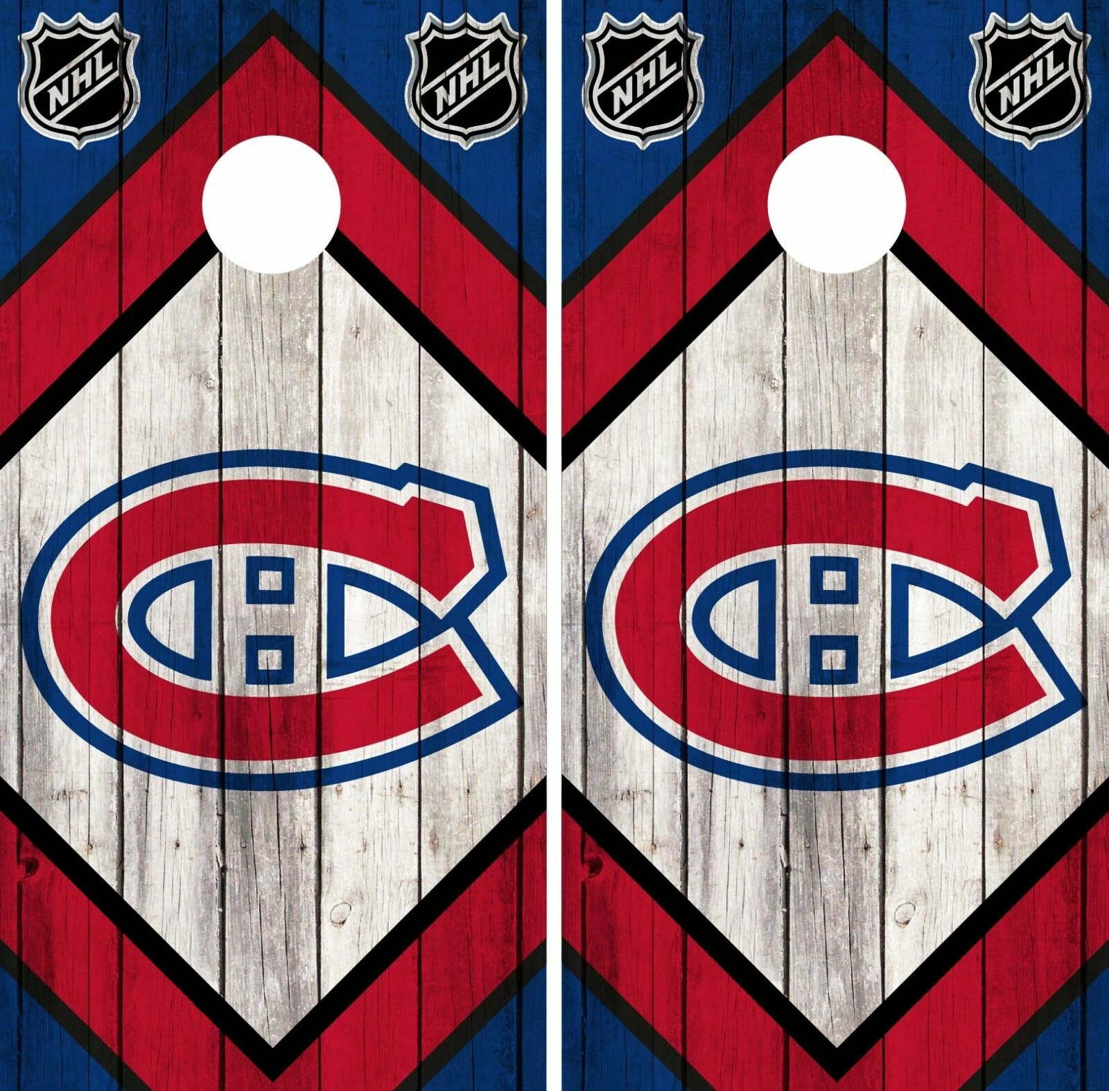 Montreal Canadiens Cornhole Wrap NHL Game  Board Skin Set Vinyl Decal Art CO303  best quality
