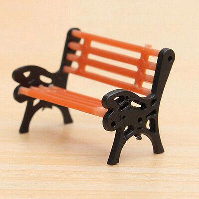 Mini Garden Ornament Miniature Park Seat Bench Craft Fairy Dollhouse Decor DIY