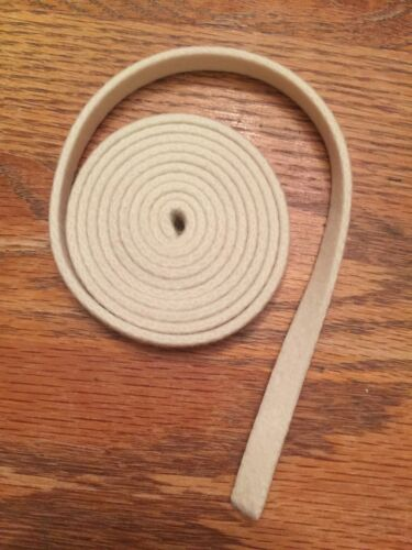 "White Piano Repair Felt 3//8/"" Wide .110/"" Thick Piano Action//Sticker Cloth"