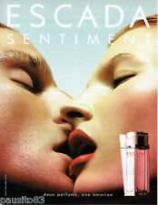 PUBLICITE ADVERTISING  026  2002  Escada  parfums Sentiment