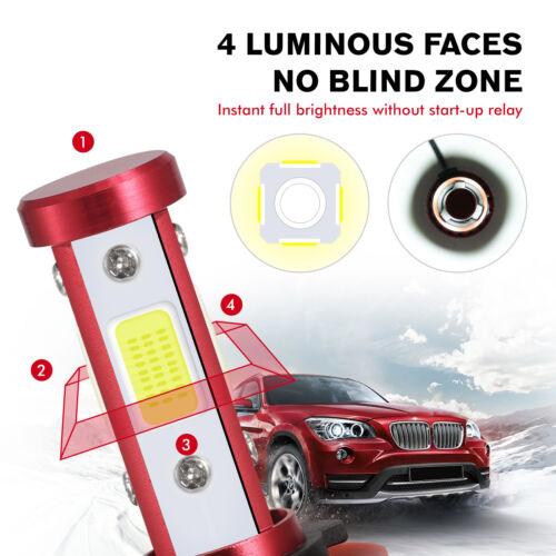 CREE H7 2000W 300000LM 4-Sides LED Headlight Kit High or Lo Light Bulb 6000K Car