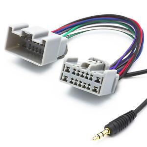 Audio-AUX-Line-In-Adapter-Kabel-Radio-3-5mm-Klinken-Stecker-fuer-Volvo-ab-Bj-2005