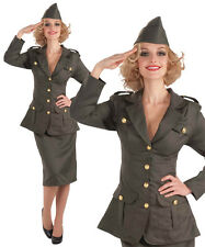Ladies WW11 Army Gal Fancy Dress Costume Military Soldier World War 2 UK 10-14