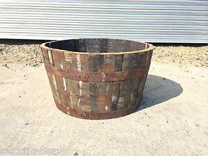 Quality Oak Whiskey Barrel Planter Pot Garden Herbs