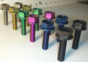 Details about Diabolic bmx grade 5 titanium female hub bolts 3/8-16 profile  chris king stealth