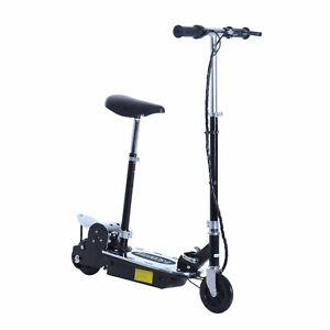 Foldable-8-mph-Electric-E-Scooter-Motorized-Bike-Seat-Battery-Powered-Black