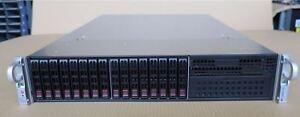 Supermicro-cse-213-2-x-Eight-Core-Xeon-e5-2660-128-Go-Ram-2u-4-8-to-2u-Rack-Serveur