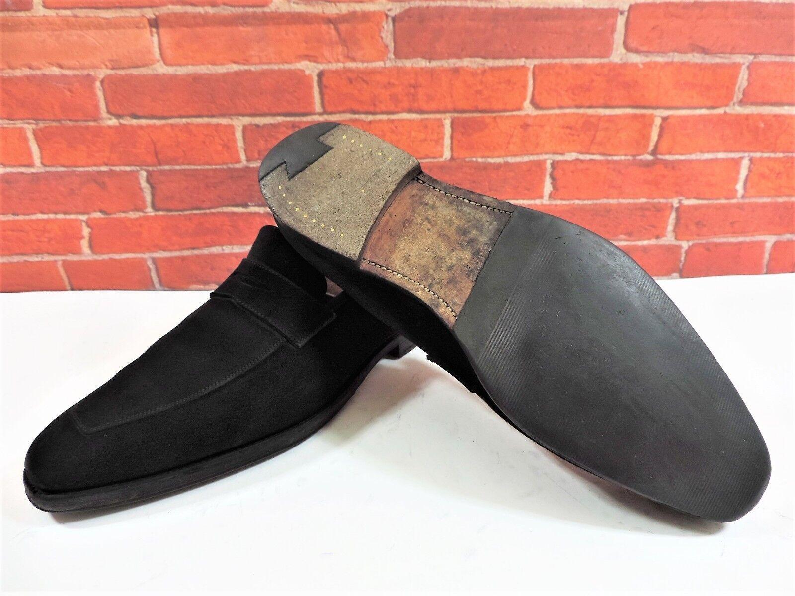 Crockett & Jones Suede Penny Loafers UK 8.5 US 9.5 9.5 9.5 EU 42.5 Glove Soft Suede 2ea55e