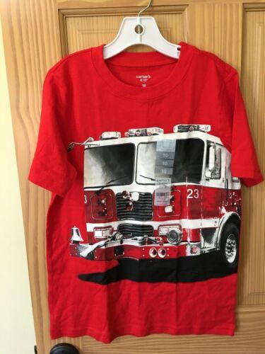 New Carter/'s Firetruck Boys Shirt Top Red 7,8,10,12,14