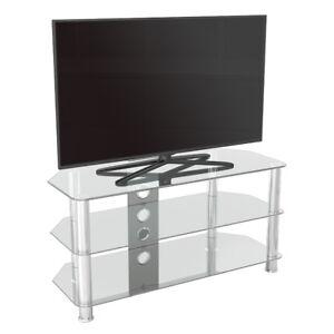 Porta Tv Lcd Vetro.Porta Tv Moderno Vetro Trasparente Unita Fino A 50 Pollici Hd Lcd
