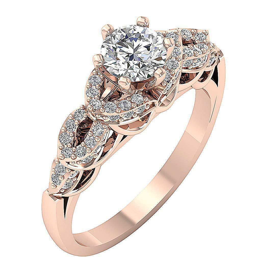 SI1 G 1.35 Ct Genuine Diamond Solitaire Anniversary Ring 14K Yellow gold 8.10MM