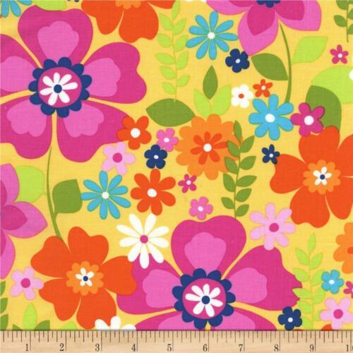 Flowertopia tissu Rainbow Fleurs Floral Michael Miller Premium Coton