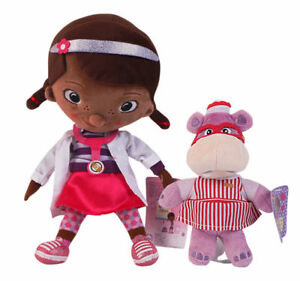 Disney-Jr-Doc-McStuffins-amp-Hallie-Hippo-Plush-Doll-Stuffed-Figure-Toy-Gift-X-039-mas