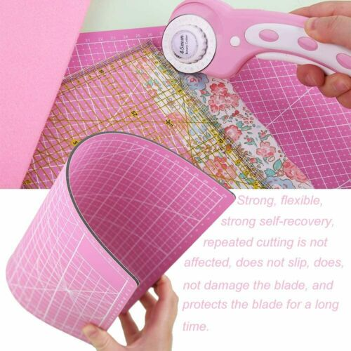 45mm Fabric Rotary Cutter With 5pcs Blades Cutting Mat Ruler For Sewing Quilting