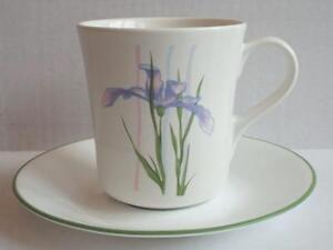 2 Corelle SHADOW IRIS Tea Coffee Cup and Saucers