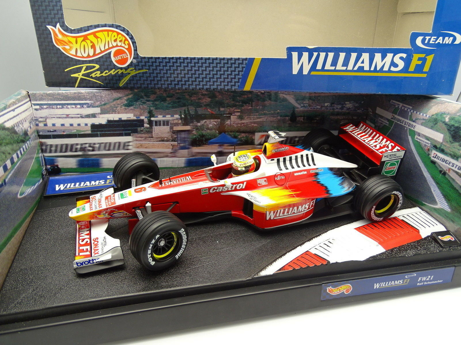 Hot Wheels 1 18 - F1 Williams Mecachrome FW21 R Schumacher