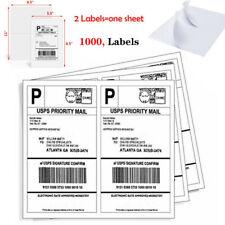 1000 Half Sheet Shipping Labels 85 X 55address Mailing Labels Self Adhesive