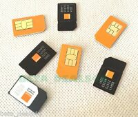 Official ORANGE - SIMCARD Mobile Pay As You Go Micro Standard SIM PAYG 4G UK New