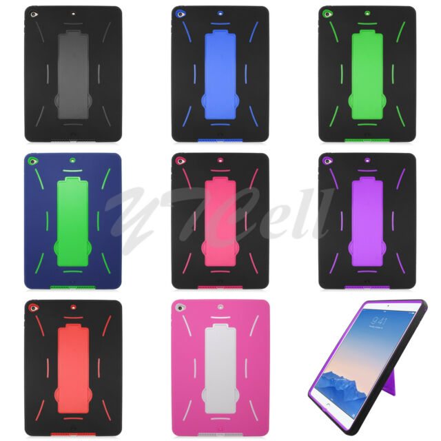 EagleCell Apple iPad Air 2 Hybrid Armor Skin Hard Case Cover Stand ZZ0