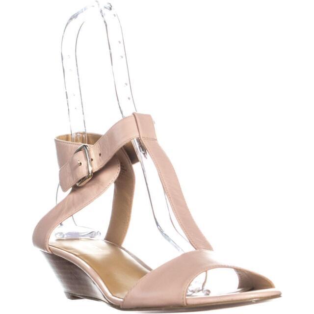 75e0b2375cfa Nine West Verucha Womens Nude Leather Dress Sandals Shoes Size UK 8