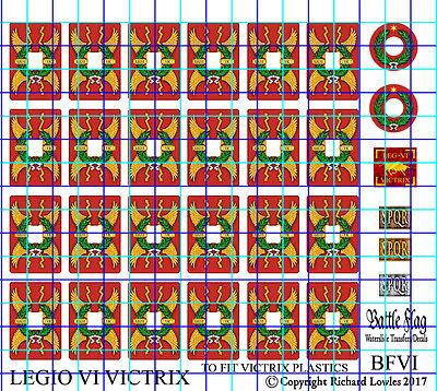 Legio VI Victrix Shield Decals for Victrix Early Imperial Roman Legionaries